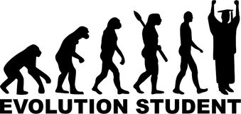 Studencki ewolucja wektor ilustracja wektor