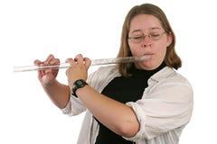 Studencki Flautist obrazy stock