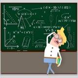 Studencki patrzeje chalkboard 3d ilustracja wektor