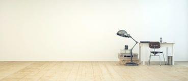 Studencki workspace w minimalistycznym pokoju Zdjęcie Royalty Free
