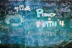 Studencki writing na blackboard Zdjęcia Royalty Free