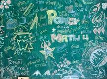 Studencki writing na blackboard Obrazy Stock