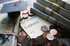 Studenckiego długu Pożyczkowy Wzrastać Wysokiej Jakości zdjęcie stock