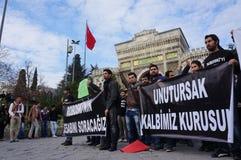 Studends protest Royaltyfria Foton