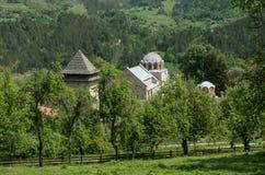 Studenica monastery, 12th-century Serbian orthodox monastery loc. Ated near city of Kraljevo Royalty Free Stock Photos