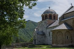 Studenica monastery, 12th-century Serbian orthodox monastery located near city of Kraljevo royalty free stock images