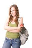 Student. Beautiful student isolated on whiye Stock Images