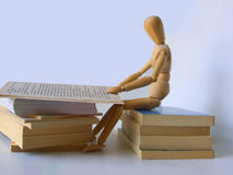 Student. Dummy with books stock photo