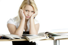 Student. Young student's portrait with books Royalty Free Stock Photos