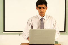 Student. Asian male student in a classroom royalty free stock photo