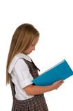 Student. Elemantary school student with her school uniform Royalty Free Stock Photo
