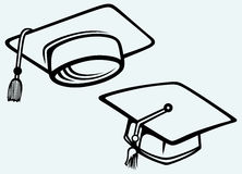 Student accessories. Graduation cap Stock Image