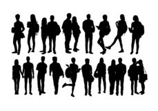 Student Activity Silhouettes stock photos