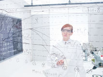 Student analyzing formulas Royalty Free Stock Photo