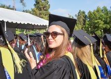 Student Applauding bij Ceremonie stock fotografie