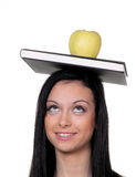 Student with apple Stock Images