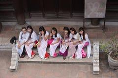 Student Asia Arkivbilder