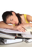 Student asleep Stock Photo