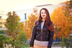 Student autumn royalty free stock images
