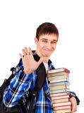 Student With böcker arkivfoton