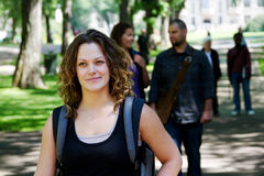 Student with back pack. Student walking with back pack royalty free stock image
