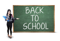 Student and Back To School text Stock Photo