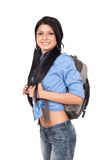 Student with backpack Royalty Free Stock Image