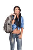 Student with backpack Stock Photo