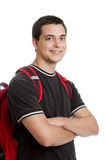Student with backpack Stock Photography