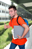 Student with backpack Royalty Free Stock Images