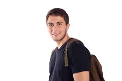 Student with backpack. Royalty Free Stock Photos