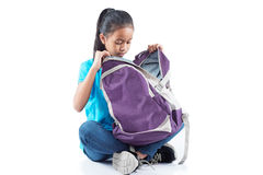 Student with backpack Stock Image