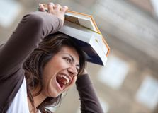 Student balancing books Royalty Free Stock Photo