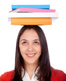 Student balancing books Stock Photography