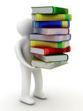Student with a bale of books. Royalty Free Stock Images