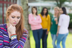 Student being bullied by a group of students Royalty Free Stock Photo