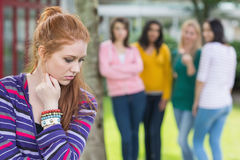 Student being bullied by a group of students Stock Images