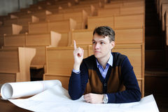 The student in a big class prepares for examination Stock Photos
