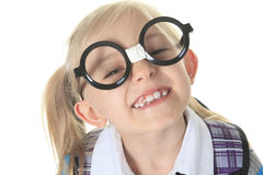 Student big glasses Royalty Free Stock Image