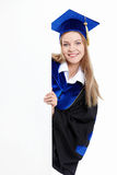 Student with billboards Royalty Free Stock Photo