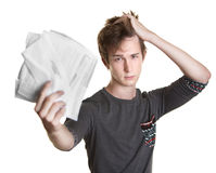 Student with Bills stock image