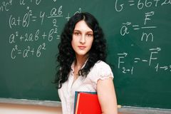 Student at the blackboard Stock Image