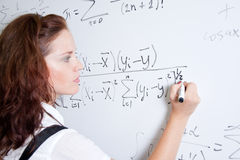 Student at blackboard Royalty Free Stock Photography