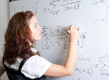 Student at blackboard Stock Image