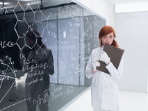 Student at blackboard Stock Photos