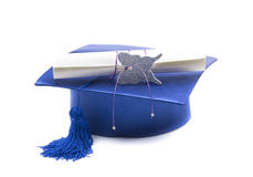 Student blue Royalty Free Stock Photography