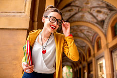 Student in Bologna city Stock Images