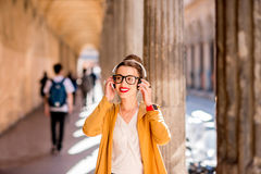 Student in Bologna city Royalty Free Stock Photography