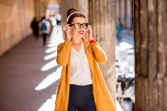 Student in Bologna city Royalty Free Stock Photo