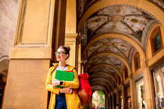 Student in Bologna city Stock Image